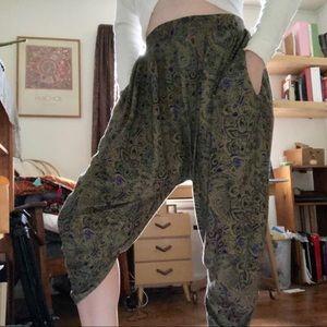 Pants - VINTAGE PAISLEY CROPPED HAREM PANTS